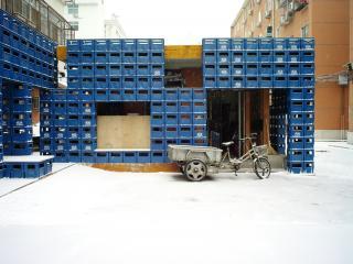 中国建筑设计院居民设施改造-啤酒箱小卖部