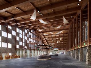 旅游景区接待大厅室内设计方案